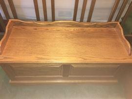 Beautiful Solid Oak Bench!