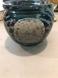 Hand blown bowl