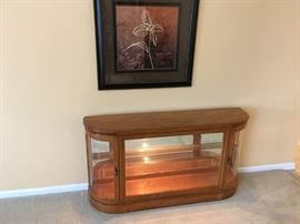 PULASKI LIGHTED CURVED END CONSOLE