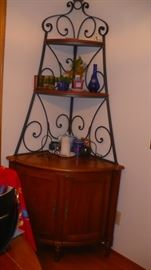 WROUGHT IRON   CORNER CABINET