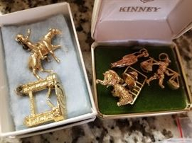 "50'S 14 KT. BEAR AND LOTS OF GOLD CHARMS (ARE YOU THINKING ""THIS IS MY CHANCE TO BUILD A 14-18KT GOLD BRACELET?)"