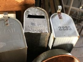 Old mailboxes, more than what is shown here