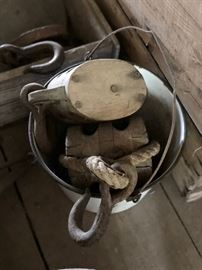 Farm tools, pulleys