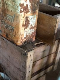 Old crates, old cans