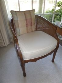 fine cane back chairs - pair of them