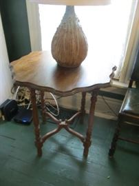 Occasional table with Anne White Scruggs lamp