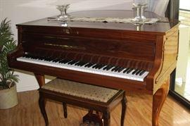 Baby Grand Zimmermann piano.