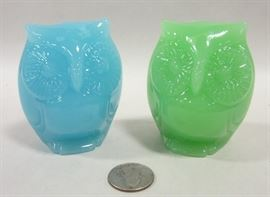 Art glass owls