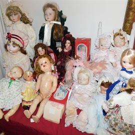 antique, vintage and modern dolls
