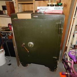 large vintage safe