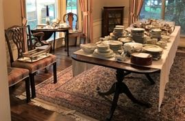 Vintage to Antique Furniture, Tableware, Silver and Silverplate Items