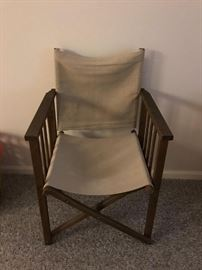 Nice, collapsable director's chair with linen canvas seat/back