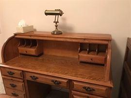 Beautiful oak rolltop desk