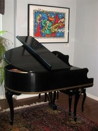 George Steck 5' Baby Grand Piano.