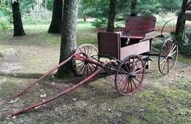 Antique Horse-Drawn Buggy or Buckboard