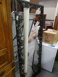 2 Metal decro door grates.