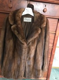 Sweet medium brown fur coat from Picketts downtown Chattanooga. Perfect for dressy holiday functions.