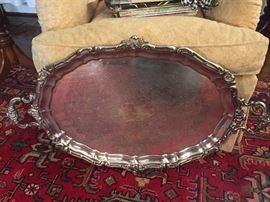 "Huge 26"" Gorham butler's tray"