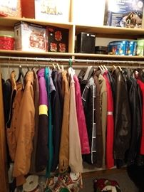 Quality Coats, Jackets and Overalls (mostly men's)
