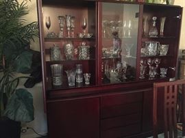 Lighted china cabinet (House of Denmark)