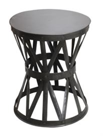 "Small Accent Table Natural Iron: 16"" round 19"" high"
