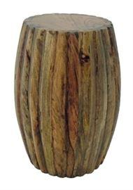 """$62.50 - Pedestal Solid Mango: 14"""" round 20"""" high"""