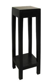 "$34.50 - Pedestal Solid Mango Dark Stain: 10"" square 35"" high"