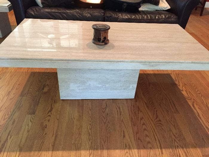 Mid Century Travertine Coffee table