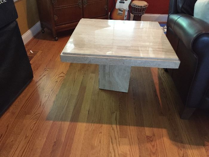 Mid Century Travertine end table
