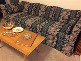 Sofa in great condition.  Coffee table has matching side table.