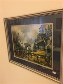"Matching ""Paris"" prints."