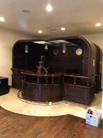 Full Room size nautical bar $13,000 made out of mahogany - comes apart.  Call for dimensions