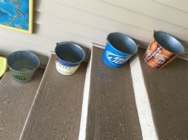 Several beer buckets