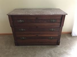 Marble topped chest