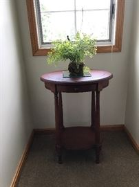 Accent table, greenery