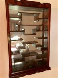 Curio Shelf with Asian Styling