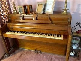 Console Piano and Picture Frames