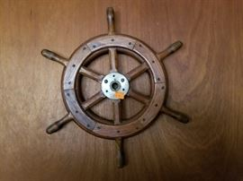 24 inch genuine ship's wheel pre 1960 .