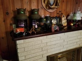 Ship lamps ,clocks. Misc