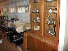 China Cabinet and Kitchen Items