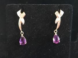 Deals-of-the-Day: amethyst & diamond earrings, reg $950 now 75% OFF!