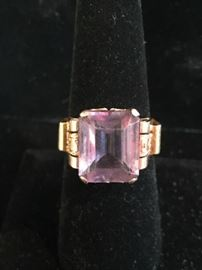 Deals-of-the-Day: Turn of the 19th C gold & amethyst ring, reg $1,200 now 75% OFF!