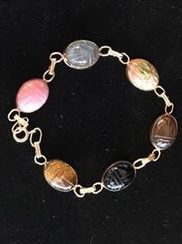 Deals-of-the-Day: 14k & scarab bracelet, reg $495 now 75% OFF!