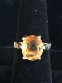 Deals-of-the-Day: gold & topaz (or citrine) ring, reg $795 now 75% OFF!