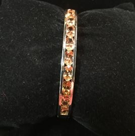 Deals-of-the-Day: Platinum & sterling bangle w/topaz, reg $1,595 now 50% OFF!
