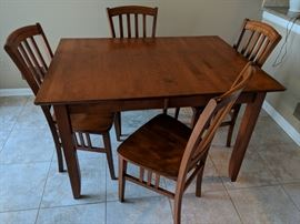$375  Maple table & chairs with extra leave