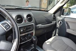 Interior Dashboard View of 2005 Jeep Liberty SUV