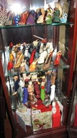 Collection of collectible designer miniature shoes.