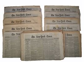 Civil War Period Newspapers - The New York Times, 22 papers