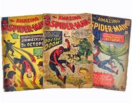 Vintage Spiderman Comics (12 May, 5 Oct, 7 Dec)